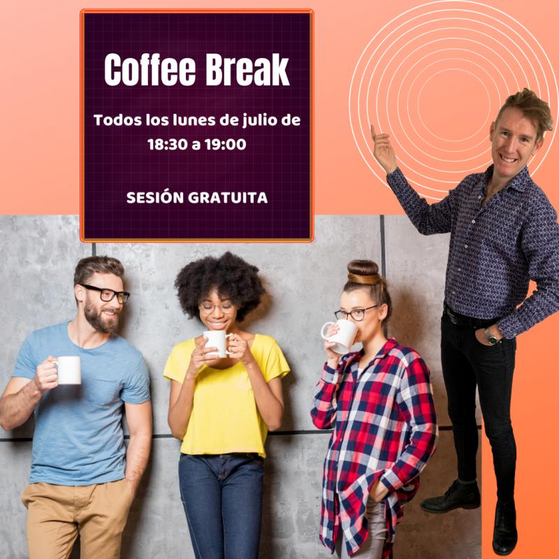 Coffe Break sesión gratuita en inglés online y presencial en Santander