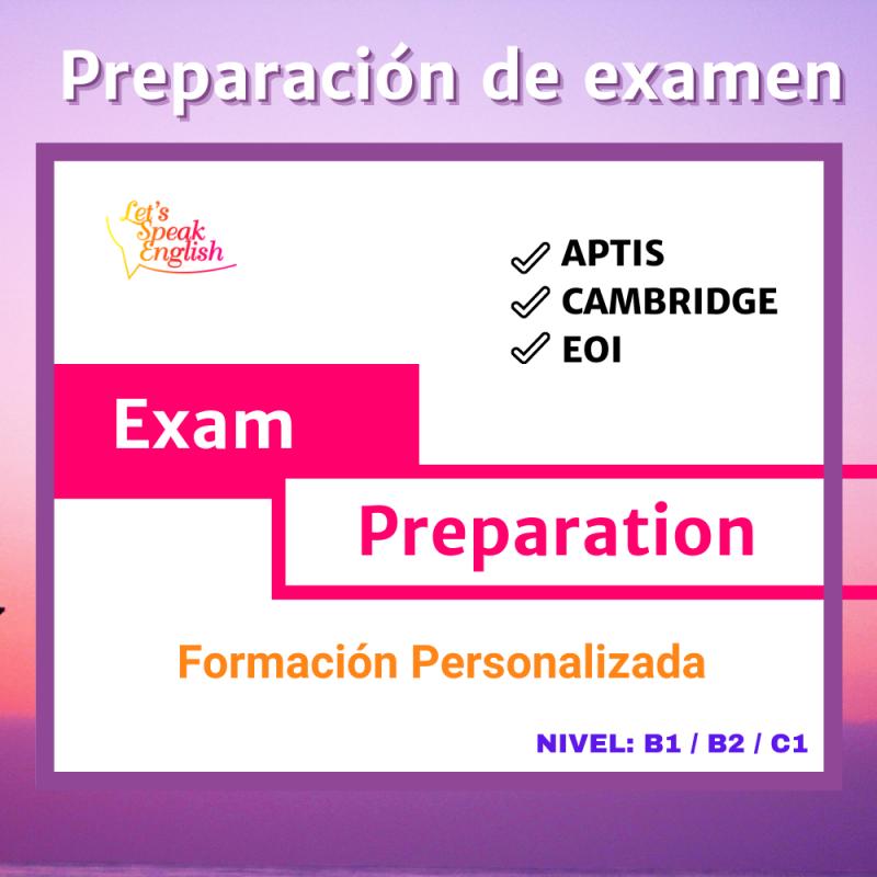 reparación de exámenes de forma personalizada